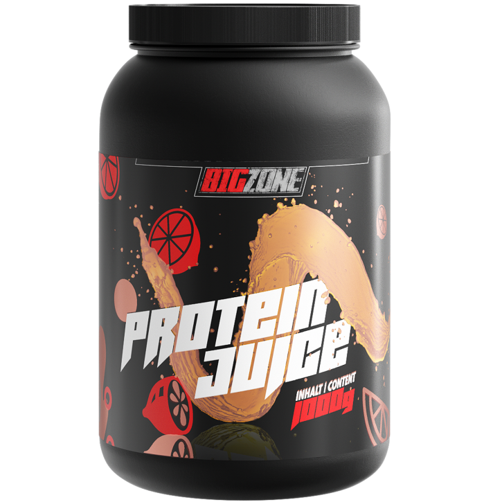 Big Zone Protein Juice - 1000g Orangensaft Eistee Zitrone