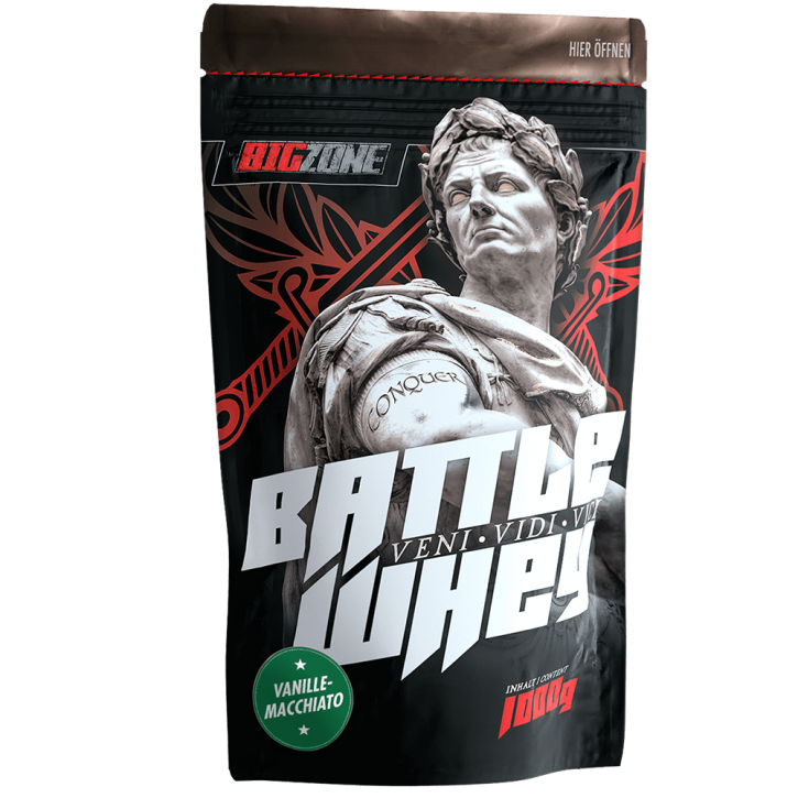 Big Zone Battle Whey - 1000g Vanilla Macchiato
